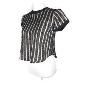 Sea New York Top Linen Wool Black Striped Tee